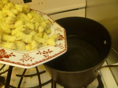 Gnocchi In The Boiling Water