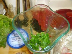 Basil Vinaigrette Ingredients In The Blender
