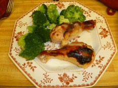 Buttermilk Roast Chicken With Steamed Broccoli