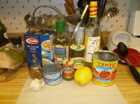 Tuna Puttanesca Ingredients