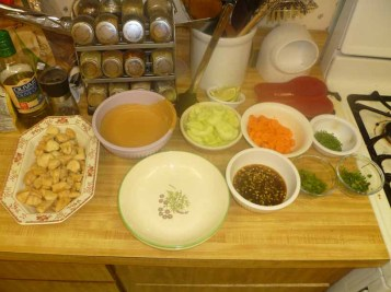 Cold Rice Noodles With Peanut-Lime Chicken Station