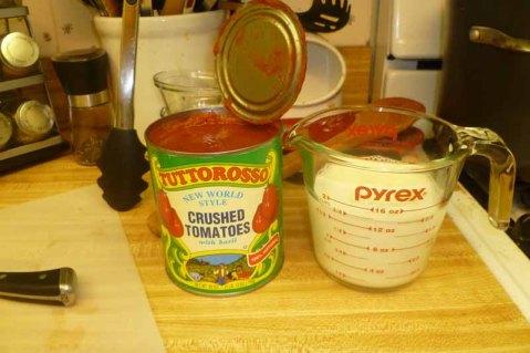 Crushed Tomatoes & Whole Milk
