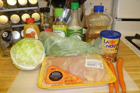 Asian Chicken Salad Ingredients