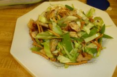 Asian Chicken Salad Plated