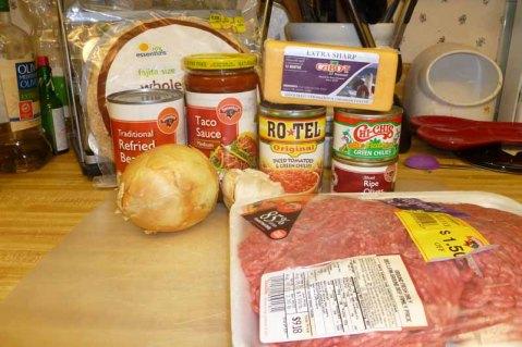 Burrito Pie Ingredients