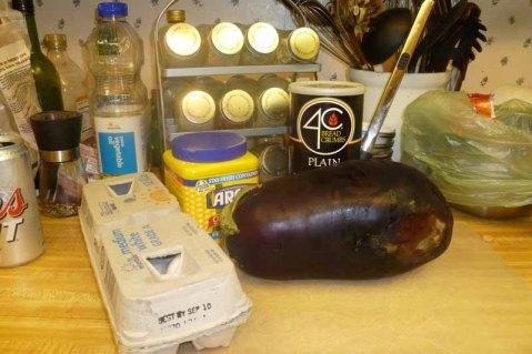 Deep Fried Eggplant Ingredients