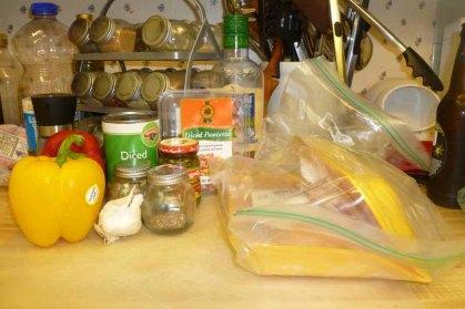Roman-style Chicken Ingredients