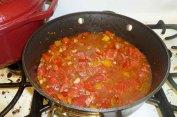 Tomatoes, Wine, Herbs & Garlic Added