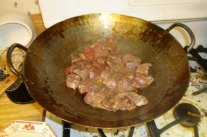 Beef Cooking In Peanut Oil