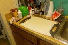 Cutting Board Next To Sink