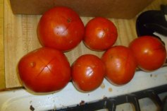Scored Tomatoes