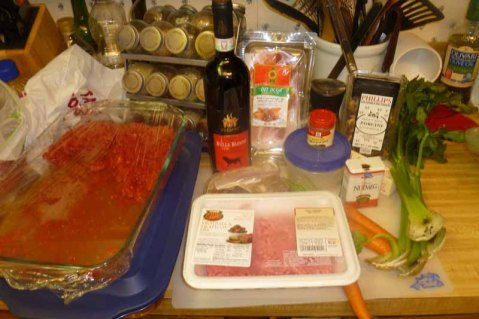 Salsa Alla Bolognese Ingredients
