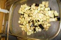 Draining Eggplant