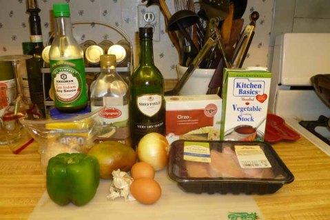 Hong Kong-Style Mango Ginger Turkey Ingredients