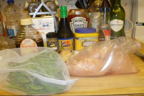 Five-Spice Chicken With Sugar Snaps Ingredients