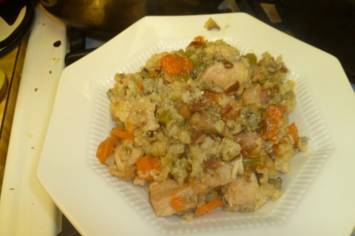 Herbed Turkey And Wild Rice Casserole Plated