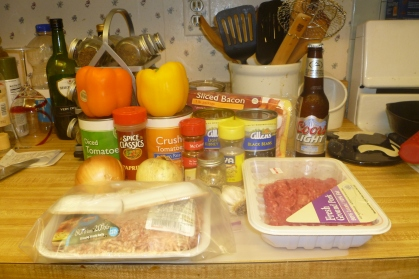 Pat's Famous Beef and Pork Chili Ingredients