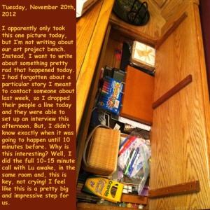 Tuesday, November 20th, 2012