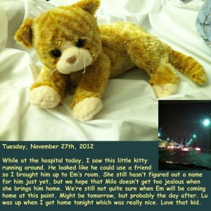 Tuesday, November 27th, 2012