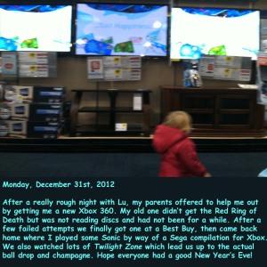 Monday, December 31st, 2012