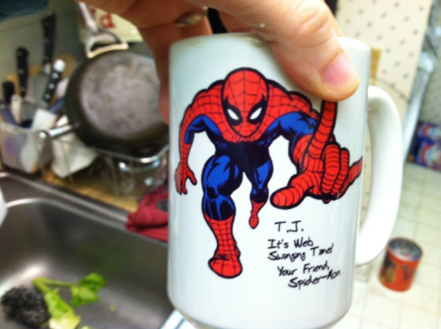 my spider-man mug