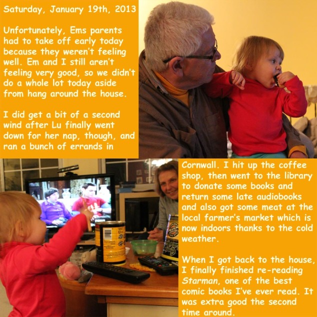 Saturday, January 19th, 2013