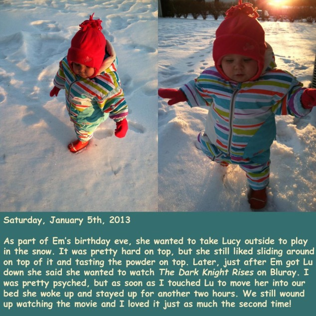 Saturday, January 5th, 2013