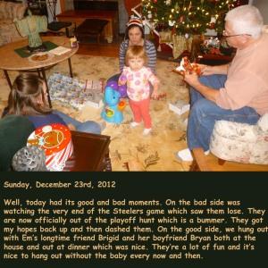 Sunday, December 23rd, 2012