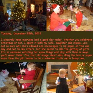 Tuesday, December 25th, 2012