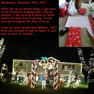 Wednesday, December 19th, 2012