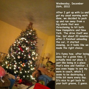 Wednesday, December 26th, 2012