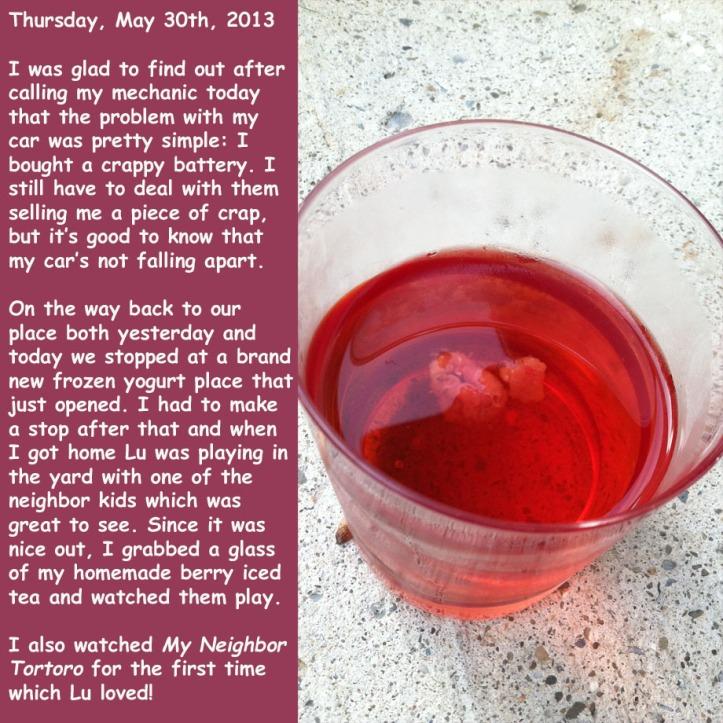 Thursday, May 30th, 2013