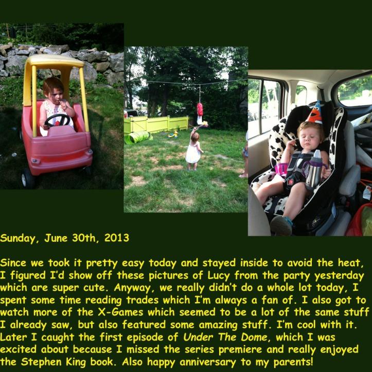 Sunday, June 30th, 2013