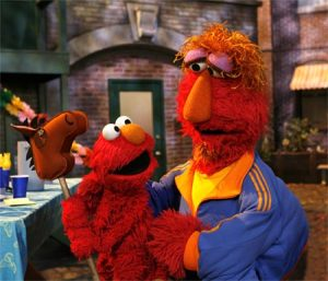 elmo and his dad