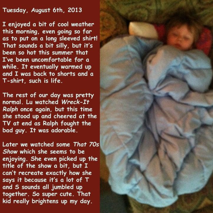 Tuesday, August 6th, 2013