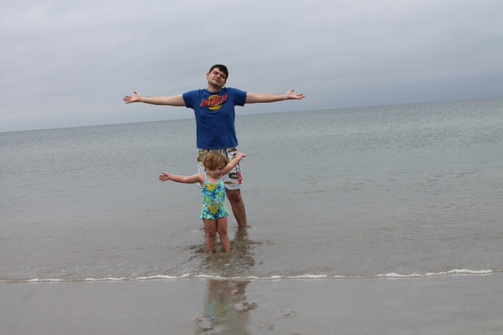 me and lu at the beach