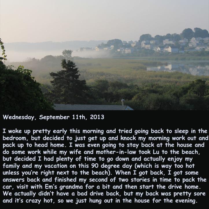 Wednesday, September 11th, 2013