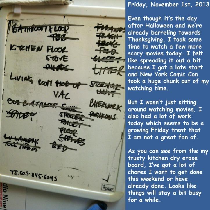 Friday, November 1st, 2013