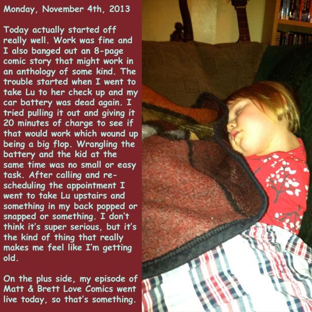 Monday, November 4th, 2013