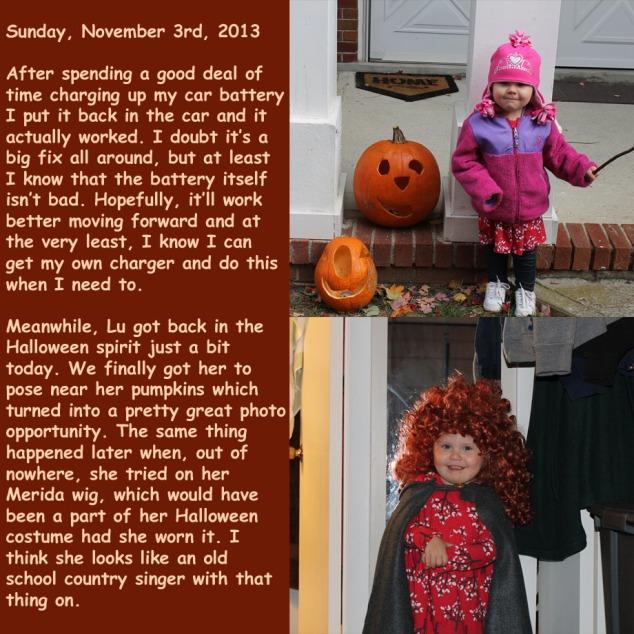 Sunday, November 3rd, 2013