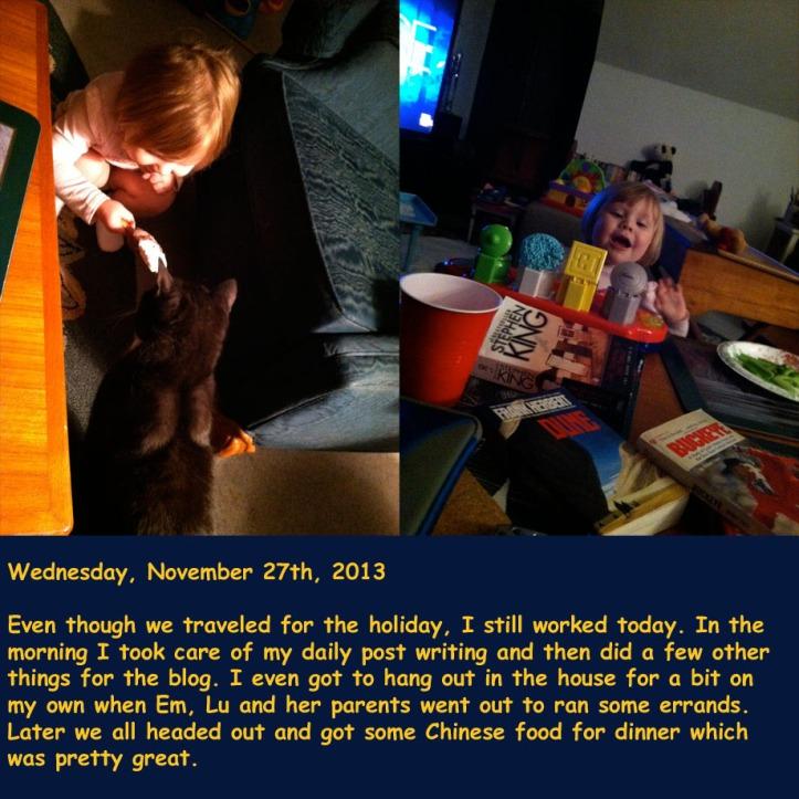 Wednesday, November 27th, 2013