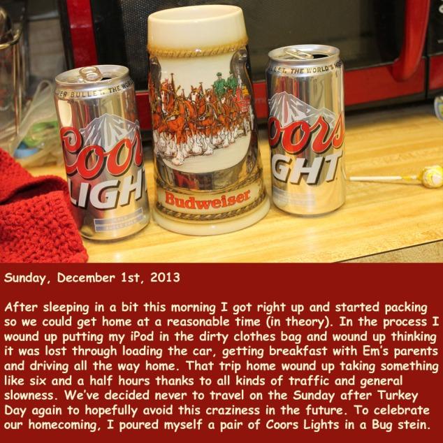 Sunday, December 1st, 2013