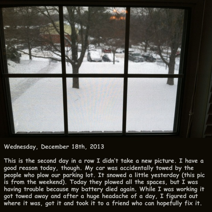Wednesday, December 18th, 2013
