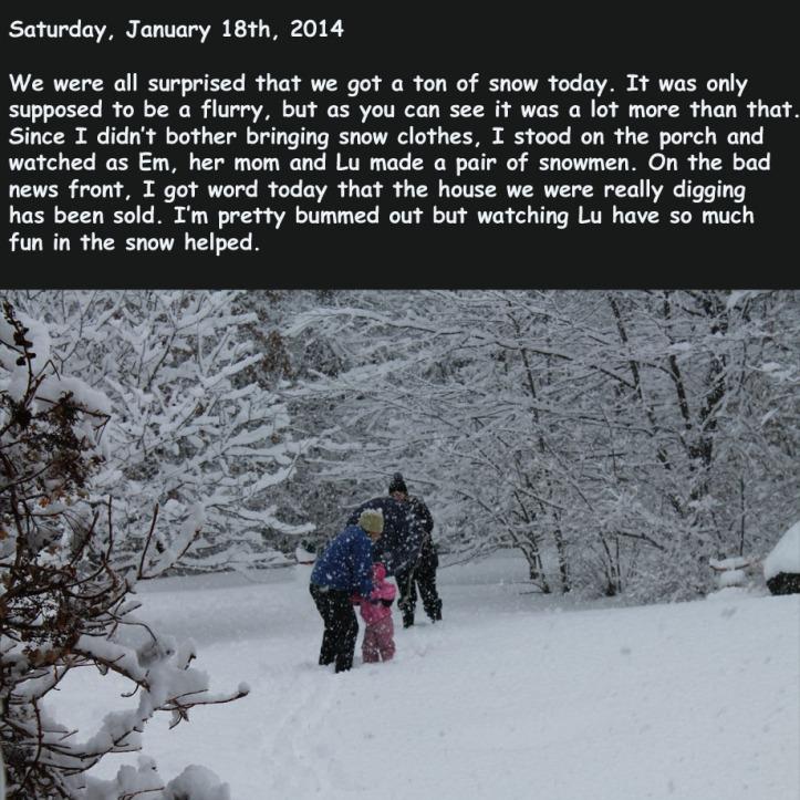 Saturday, January 18th, 2014