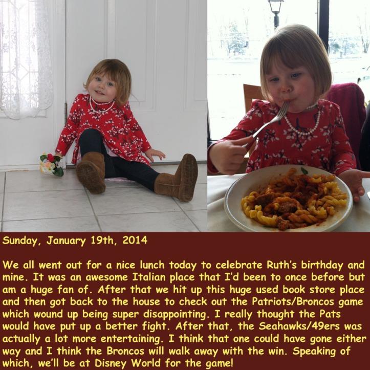 Sunday, January 19th, 2014