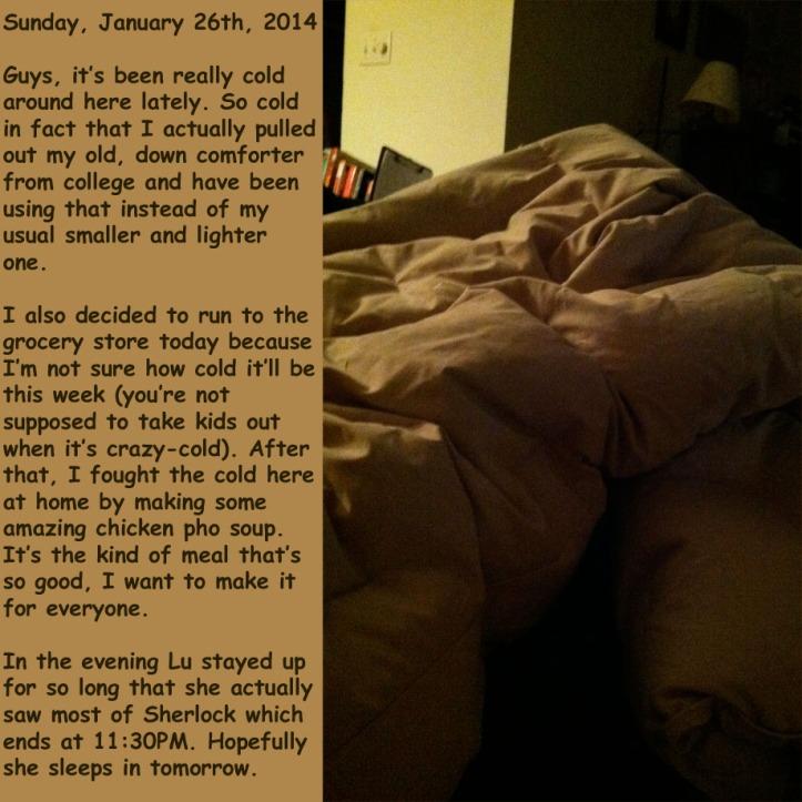 Sunday, January 26th, 2014
