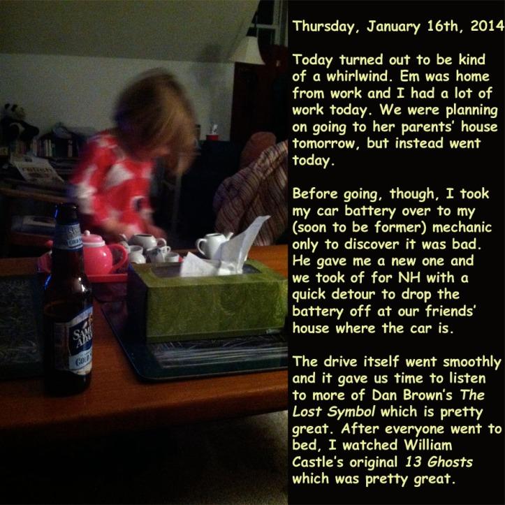 Thursday, January 16th, 2014
