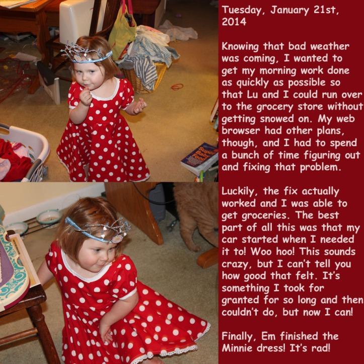 Tuesday, January 21st, 2014