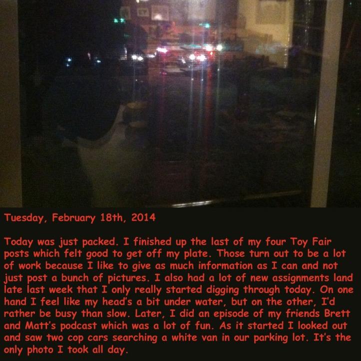 Tuesday, February 18th, 2014