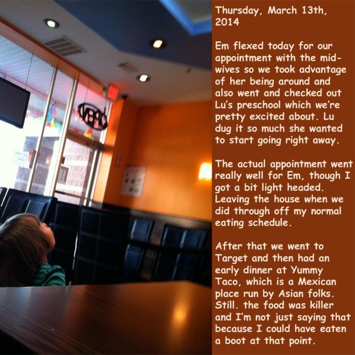 Thursday, March 13th, 2014